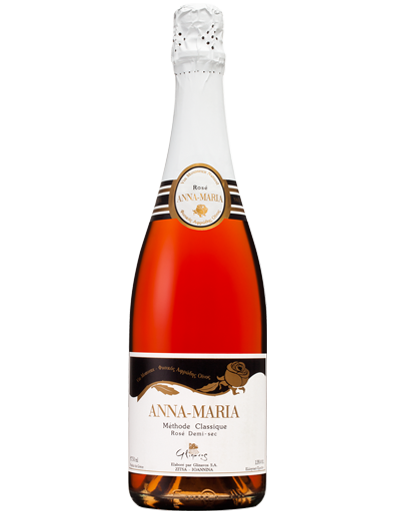 Rose Sparkling Semi Dry Wine Anna Maria by Domaine Glinavos