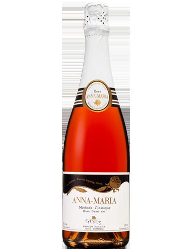 Natürlicher Rose Schaumwein Anna Maria aus der hervorragenden Rebsorte Syrah. Süßer Wein mit intensivem süßem Abgang von dem Glinavos Weingut in Zitsa, Ioannina