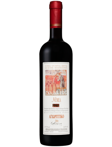 Agiorgitiko red wine made from the Greek grape variety Agiorgitiko by Greek Winery Domaine Glinavos